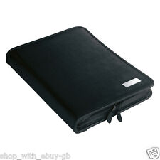 A4 Executive Leather Look Conference Folder - Zipped Meeting Folder & Note Pad