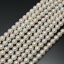 "JAPANESE AKOYA WHITE CULTURED PEARL 6-6.5 mm STRAND NECKLACE 16"" WITHOUT CLASP"