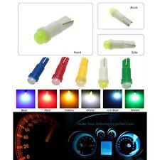 Green 10pcs Car Interior LED Dashboard light T5 1 SMD 5050 led T5 LED Bulb Lamp