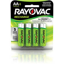 Rayovac AAA Rechargeable Batteries 4CT, NiMH LD724-4OP Recharge Battery AAA4