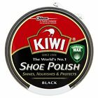 2 x KIWI Black Shoe Polish For Leather Shoes and Boots Shines & Protects 50ml