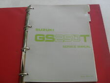 USED GENUINE SUZUKI GS250T GS300L 1981 DEALER SERVICE MANUAL 99000-85551-0E3