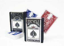 1 Deck Red or Blue Bicycle Prestige Poker Size Playing Cards 100% Plastic NEW