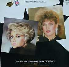 "ELAINE PAIGE & BARBARA DICKSON - I Know Him So Well - 12"" Maxi 1984 - KO02"