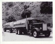 P.I.E. 1950s/60s PETERBILT 351 TANK TRUCK & TRAILER 8x10 B&W GLOSSY PHOTO