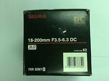 Sigma 18-200mm f/3.5-6.3 DC Lens For Sony A-Mount APS-C DSLR's