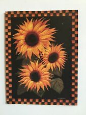 Shabby Chic Primitive Americana Fridge Magnet 'Sunflowers'