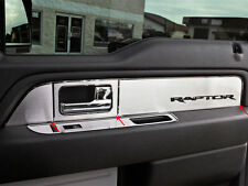 2010-2014 Ford F-150 Raptor Ext. Cab Brushed Stainless Door Panel Inserts 6pc