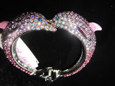 Betsey Johnson OCEAN DRIVE DOLPHIN SPRING BANGLE BRACELET LOTS OF BLING