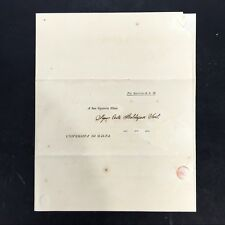 1838 Universita di Malta Letter to Conte Baldassare Requesting Appointment #2503