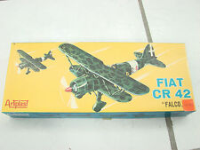 "Artiplast Fiat CR 42 ""Falco"" Made in Italy Military Airplane Model Kit Bi-Plane"