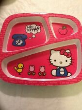 ZAK DESIGN HELLO KITTY CHILD'S 3 SECTIONAL PLATE LOT OF 4