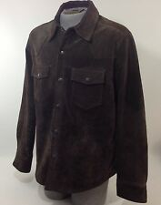 Levi Strauss Mens Size Large Suede Leather Dark Brown Jacket