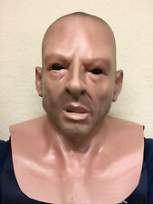 Bald Head Hard Man Thug Soldier Human Face Mask Overhead Latex Stag Party Masks