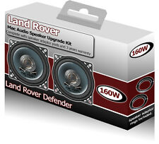 "Land Rover Defender Front Dash speakers Mac Audio 4"" speaker kit + spacers 160W"