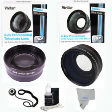 58MM 2x TELEPHOTO +FISHEYE + MACRO + CLEANING KIT FOR CANON EOS REBEL DSLR HD