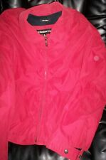 EUC CLAIBORNE MENS ZIP FRONT SPRING/FALL JACKET RED LARGE