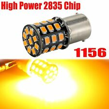 1x 1156 High Power New 2835 Chip 33 LED Amber Yellow Turn Signal Light Bulb