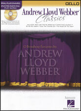 Andrew Lloyd Webber Classics Cello Sheet Music Book & Play-Along CD