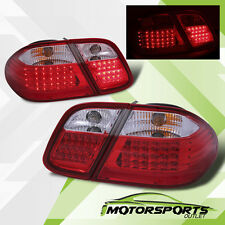 1998-2002 Mercedes-Benz W208 CLK320 CLK430 CLK55 AMG Red Clear LED Tail Lights