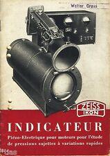 Zeiss ikon AG Dresde prospectus indicateur piézo ELECTRIQUE 1937 français