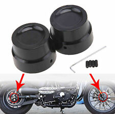 Front & Rear Axle Nut Cover Cap For Harley Softail Dyna V-Rod Sportster 883 1200