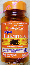 Lutein 20mg *30 Softgels* Natural Carotenoid Zeaxanthin Supports Eye Health
