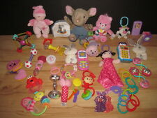 Lot 29 Infant Baby Developmental Toys Carters Fisher Price Plush Lovey Doll Book