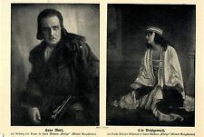 """Hans Marr & Else Wohlgemuth Wiener Burgtheater in """"Könige"""" Bilddokument von 1916"""