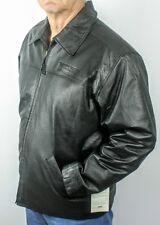 Burk's Bay Black Leather Napa Driving Jacket, Men's Extra Large
