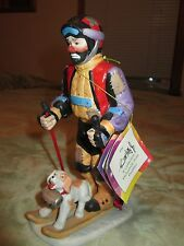 Emmett Kelly Jr. EKJ Personal Appearance figurine Skiing 1999 Colorful
