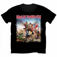 Official IRON MAIDEN The Trooper T-shirt Black Sizes S to XXL Powerslave Eddie