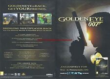 "Golden Eye 007 Wii ""Pre-Order Now"" 2010 Magazine 2 Page Advert #4673"