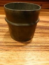 """Outstanding Antique marked pewter english tankard 3"""" [Y8-W6-A9-E9]"""