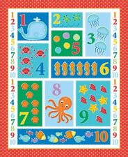Patchwork fabric Count On Me Studio E cot quilt panel counting numbers panel