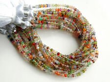 4mm. Natural Stones Semi Precious Faceted Rondelle Gemstone Beads 8""