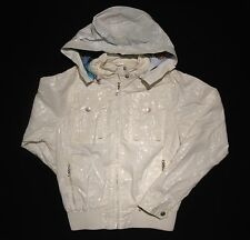 Girls 152 OILILY Off White Removable Hood Hooded Cotton Bomber Jacket