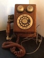 Vintage Western Electric Telephone Wood Wall Phone Rotary Dial