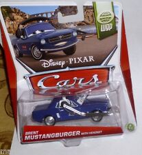Disney Pixar Cars 1:55 Die-Cast wgp Brent Mustangburger with Headset New