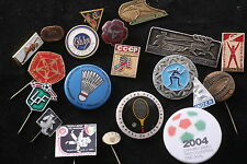 Sport Badge Pin Lot 20 Soviet Union Hungary Germany Poland  Soccer Tennis Futbol