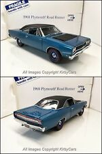 Danbury Mint 1968 PLYMOUTH ROAD RUNNER- NMIB/UNDISPLAYED! ELECTRIC BLUE!