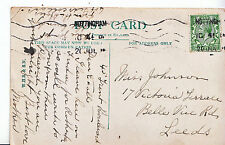 Genealogy Postcard - Family History - Johnson - Belle Vue Road - Leeds   U3534
