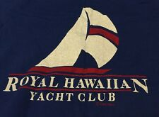 Vintage ROYAL HAWAIIAN YACHT CLUB Crazy Shirt 100% Combed Cotton T Shirt. Size M