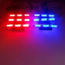 9X 6 Bars Red LED Blue Car Flashing Emergency Grille Recovery Strobe Light IN UK