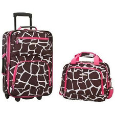 2 Pc Expandable Travel Luggage Set Carry On Tote Bag Women Girls Suitcase Wheels