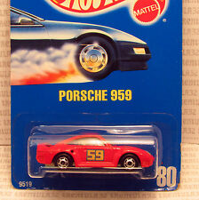 SPEED POINTS PORSCHE 959 RED SPORTS CAR #80 HOT ONES BLUE CARD HOT WHEELS