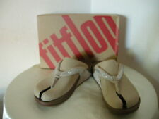 Authentic FitFlop Crystal Swirl Nude Women's Sandals Size 10