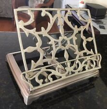 Vintage Brass Adjustable Folding Easel Book Stand Holder Rack Bible / Cookbook