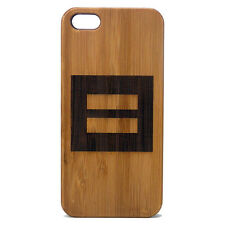 Marriage Equality Case for iPhone 5 5S SE Bamboo Wood Cover Gay Lesbian Equal