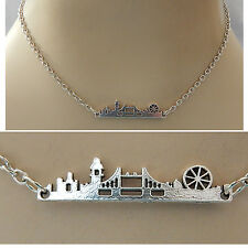 Silver London Skyline Strand Necklace Jewelry Handmade NEW Chain Accessories